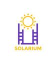 solarium icon logo on white vector image vector image