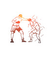 sport games fight man active concept vector image vector image