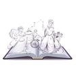 Tale of Cinderella Open book fantasy tale Fairy vector image vector image
