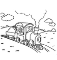 Train Coloring Pages vector image vector image