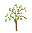 Tree with hand vector image vector image