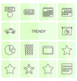 trendy icons vector image vector image