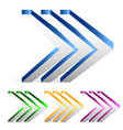 triple arrows right quickness swiftness vector image vector image