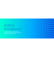 turquoise blue gradient minimal long banner vector image vector image