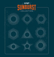 vintage styled sunburst set collection vector image vector image