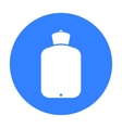 Warmer icon black Single medicine icon from the vector image vector image