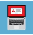 Warning on the laptop screen vector image vector image
