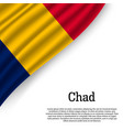 waving flag of chad vector image vector image