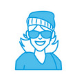 woman with sunglasses cartoon vector image vector image