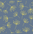 yellow abstract flowers on blue background vector image