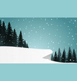 snow hill vector image
