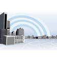 Buildings in city vector image