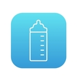 Feeding bottle line icon vector image