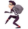 Burglar vector image