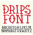 Graffiti font with paint drips vector image