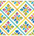 Abstract flat colorful seamless pattern vector image