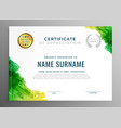 abstract green certificate of appreciation vector image vector image