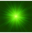 Abstract green glowing background vector image vector image