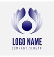 abstract logo label badge emblem or logotype vector image vector image