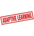 adaptive learning square stamp vector image vector image