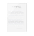 Agreement contract icon vector image vector image