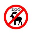 Alpine ibex in zoo prohibited vector image vector image