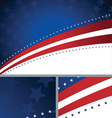 American Patriotic Abstract Holiday Background vector image vector image