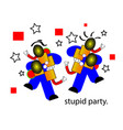 april fools day and stupid party vector image