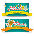 back to school banner set vector image vector image