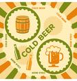 Beer poster design vector image vector image