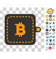 bitcoin wallet icon with bonus vector image