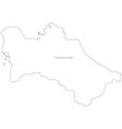 Black White Turkmenistan Outline Map vector image