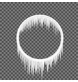 circle frame icicles vector image vector image