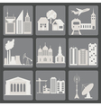City infrastructure icons vector image