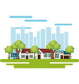 cityscape scene eco friendly vector image