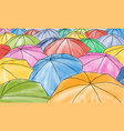 colored umbrellas in the rain - pattern vector image