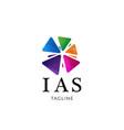 colorful community association logo design vector image