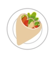 delicious japanese food isolated icon vector image