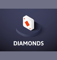 diamonds isometric icon isolated on color vector image vector image