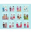 Different Nationalities Happy New Year vector image vector image