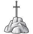 Exaclibur sword in stone vector image vector image