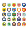 food flat icons 5 vector image vector image