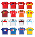 football shirts vector image vector image