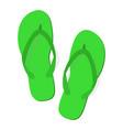 green summer flip flops vector image