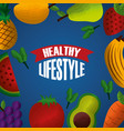 healthy lifestyle sport gym food vector image vector image