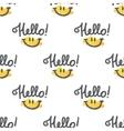 hello pattern vector image vector image