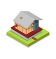 house framework isometric 3d icon vector image vector image