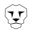 lion face vector image