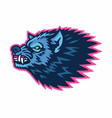 mad wolf logo sports mascot design template vector image