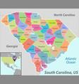 map state south carolina usa vector image vector image